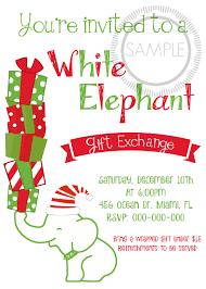 white elephant christmas party invitations datastash co