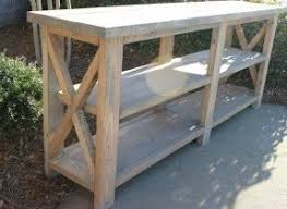 Rustic Sofa Table by Farmhouse Console Table Foter