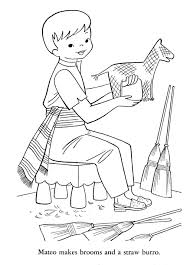 colonial boy coloring page kids drawing and coloring pages