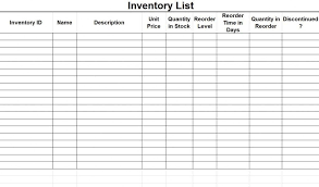 supply inventory template supply inventory template 5 free word