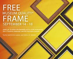 free museum quality frame with purchase of thomas kinkade limited