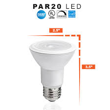 R20 Led Light Bulbs by Led Par20 Soft White 8 Watt Dimmable Replaces 50w