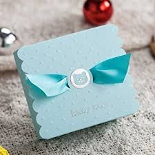 baby shower favors for boy 30pcs blue baby boy candy gift boxes baby shower