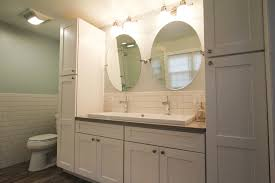 Bathroom Vanity With Cabinet by Gorgeous Bathroom Vanity And Linen Cabinet Pertaining To Interior