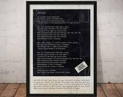 simple man lyrics printable version simple etsy