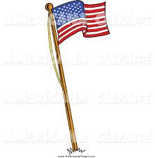 Americana Flags Americana Vector Cartoon Clip Art Of A Waving American Flag On A