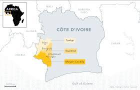 Ivory Coast Map The Omerta Of Ivory Coast Zam