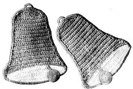 bell potholders vintage crochet pattern for christmas vintage