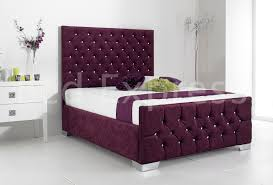 Bed Frame Styles Stylish Fabric Upholstered Bed Frame Chenille Leather 4ft6 Double