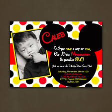 Mickey Mouse Invitation Cards Printable Mickey Mouse Birthday Party Invitations Theruntime Com
