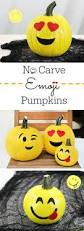 no carve emoji pumpkins kid friendly pumpkins that are so fun and
