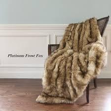 Fox Fur Blanket Home 58x60 Or 58x84 Luxury Wild Faux Fur Throw Blanket