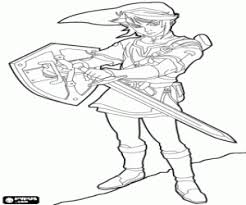 excellent zelda coloring pages lenovropix download toon link