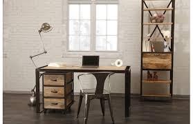 bureau design industriel bureau design industriel bois massif industria prix promo miliboo