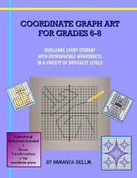 amazon com coordinate graph art for grades 6 8 challenge every