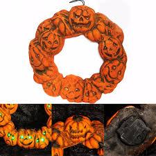 Halloween Geo Mesh Wreath Halloween Door Wreath Classic Orange Black Halloween Fall With