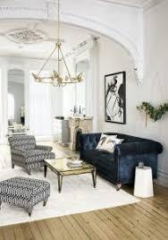 living room classic living room decor blue velvet couch