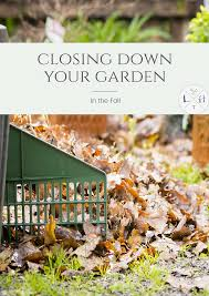 closing your garden down in the fall the lavender hytta