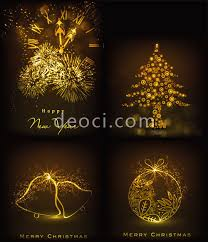 Greeting Card Designs Free Download 2013 Golden Christmas Greeting Card Design Template Illustrator Ai