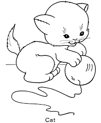 coloring page of a kitty free printable cat coloring pages for kids