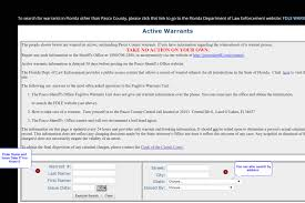 Active Bench Warrant Outstanding Warrant In Tampa Florida Attorney U0027s Guide 2017