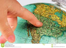United States On A Map by United States Map On A Globe Stock Photo Image 41480599