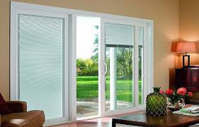 French Doors With Blinds In Glass Beautiful Exterior Sliding Glass Doors With Blinds With Door
