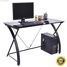 Amazoncom COLIBROXTempered Glass Computer Desk PC Laptop Study