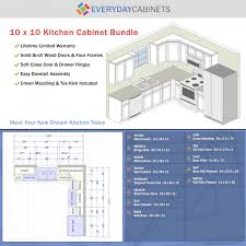 10x10 Kitchen Cabinets 10 X 10 Kitchen Design Layout Comfortable Home Design