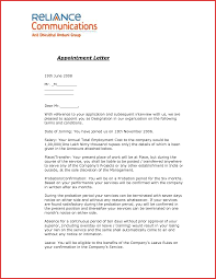 company appointment letter format image collections letter