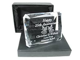 25 wedding anniversary gifts 25th wedding anniversary gift engraved 25th wedding anniversary