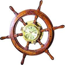 home decor imports inc 26 inch wood ships wheel porthole clock variations imports inc