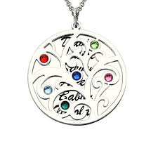 necklace with name and birthstone birthstone family tree necklace personalized necklace