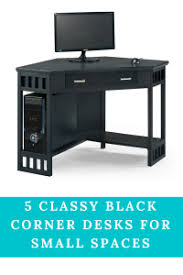 Small Black Corner Desk Black Corner Desk For Small Space Furniturable
