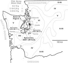 Map Of Greater Seattle Area by Chimney Damage In The Greater Seattle Area From The Nisqually