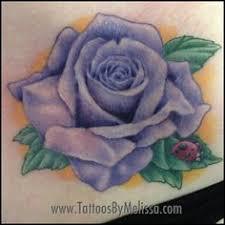 Ladybug And Flower Tattoos - evan olin full color realistic rose and ladybug tattoo art