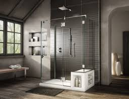 cool picture of modern black grey bathroom decoration using light