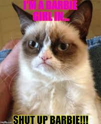 Barbie Girl Meme - grumpy cat meme imgflip