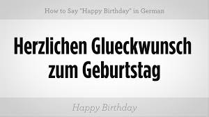how to say happy birthday in german german lessons
