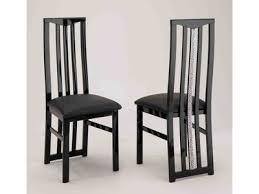 chaises s jour chaise de sejour cromo laque noir