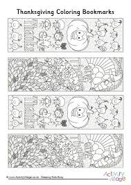 thanksgiving doodle colouring bookmarks holidays thanksgiving