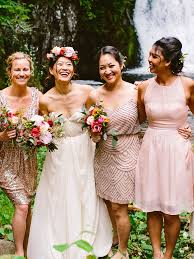these mismatched bridesmaid dresses are the hottest trend
