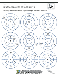 fun multiplication worksheet to 10x10 8 math pinterest