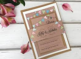 personalised wedding invitations with rsvp card sleeve