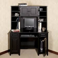 Small Black Corner Computer Desk Corner Desk With Hutch Auston Black Home Pinterest Black