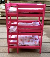 Free Plans For Building A Bunk Bed by Ana White Triple Doll Bunk Bed Diy Projects