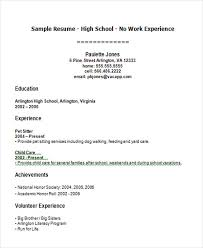 Resume First Job Template Resume Templates For First Job First Job Resume First Job Resume
