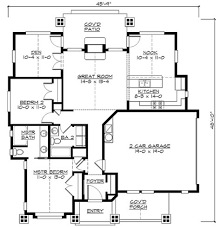 Cottage Floor Plans One Story Plan 23264jd Vaulted One Story Bungalow Bungalow Craftsman And