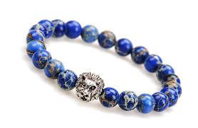 blue bracelet images Lion bracelet mens lion bracelet blue variscite lion jpg