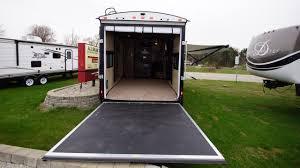trailer garage new 2017 stryker 2912 travel trailer toy hauler 12 ft garage hold